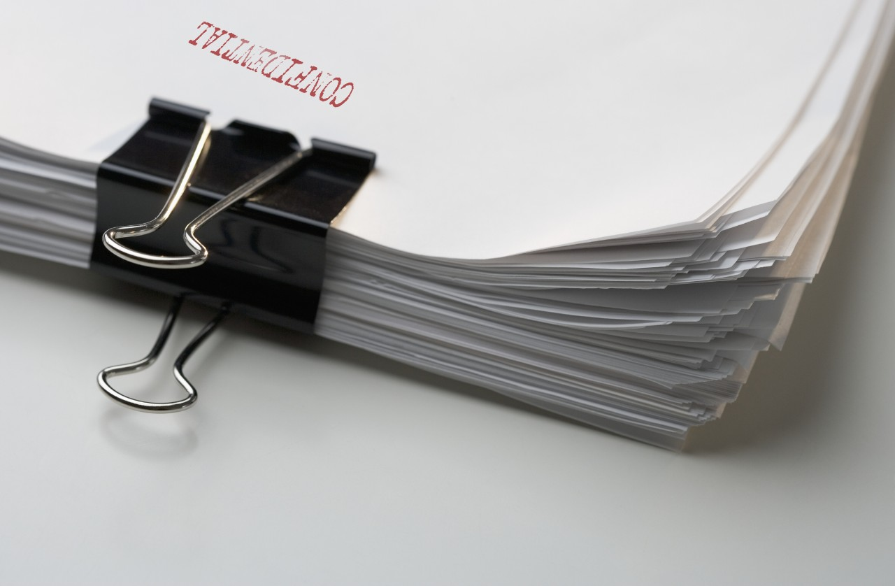 Stack of Confidential Papers